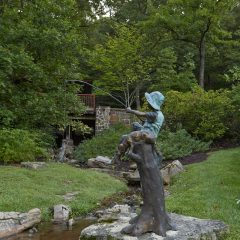 Boy Fishing Statue