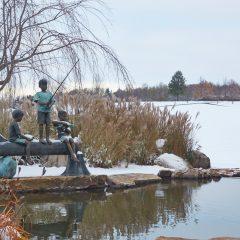 Fishing Statue